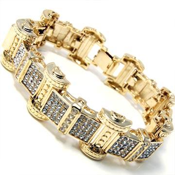 Gold Hip Hop Bracelet